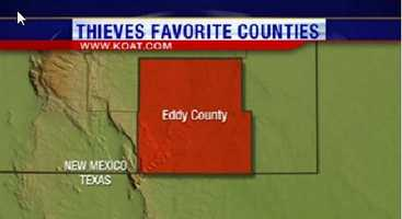 6. Eddy County had 421 reports of property crime.