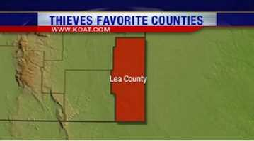 8. Lea County had 374 reports of property crime.