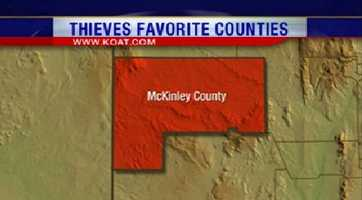 9. McKinley County had 258 reports of property crime.