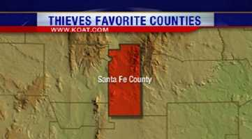 3. Santa Fe County had 1,208 reports of property crime.