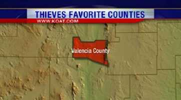 4. Valencia County had 1,176 reports of property crime.