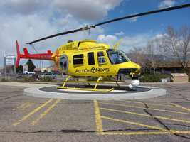 The news helicopter that you have relied on for 30 years to cover breaking news and spectacular video of our state, now features a yellow color scheme accented by the Zia tribal symbol.