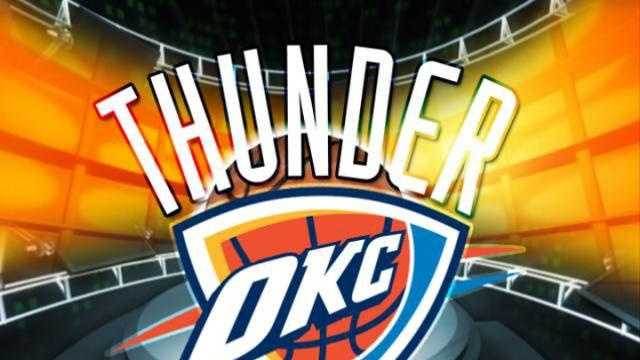 OKC Thunder Logo (blue background) - 18040442