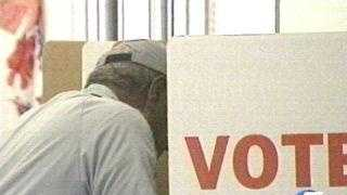 Voter In Election Booth - 1635331