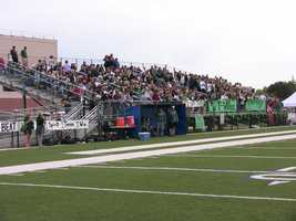 Norman North had a slight advantage playing in Newcastle. Closer fans and they packed the house. They filled the bleachers and that resorted to standing room only.