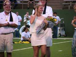 Landre Oglesby from Edmond Santa Fe won the 2012 Oil Bowl Queen award.