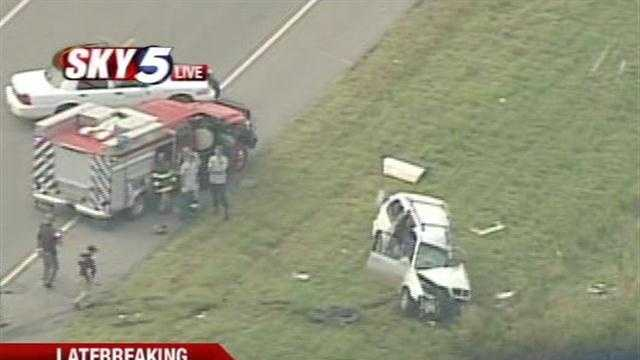 A least one person was injured Monday morning in a head-on collision.