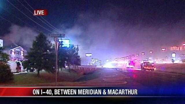 Crews fight business fire in SW OKC