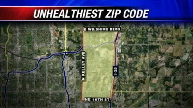 Oklahoma City's unhealthiest ZIP codes