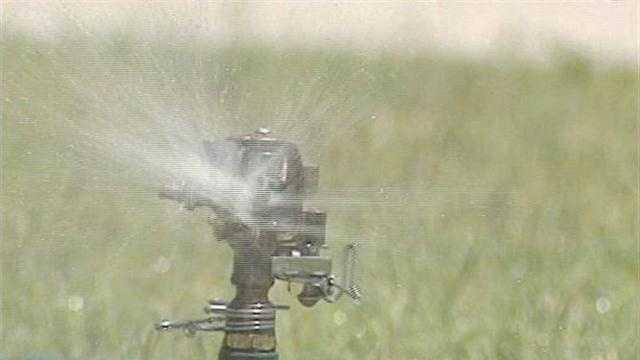 generic sprinkler watering