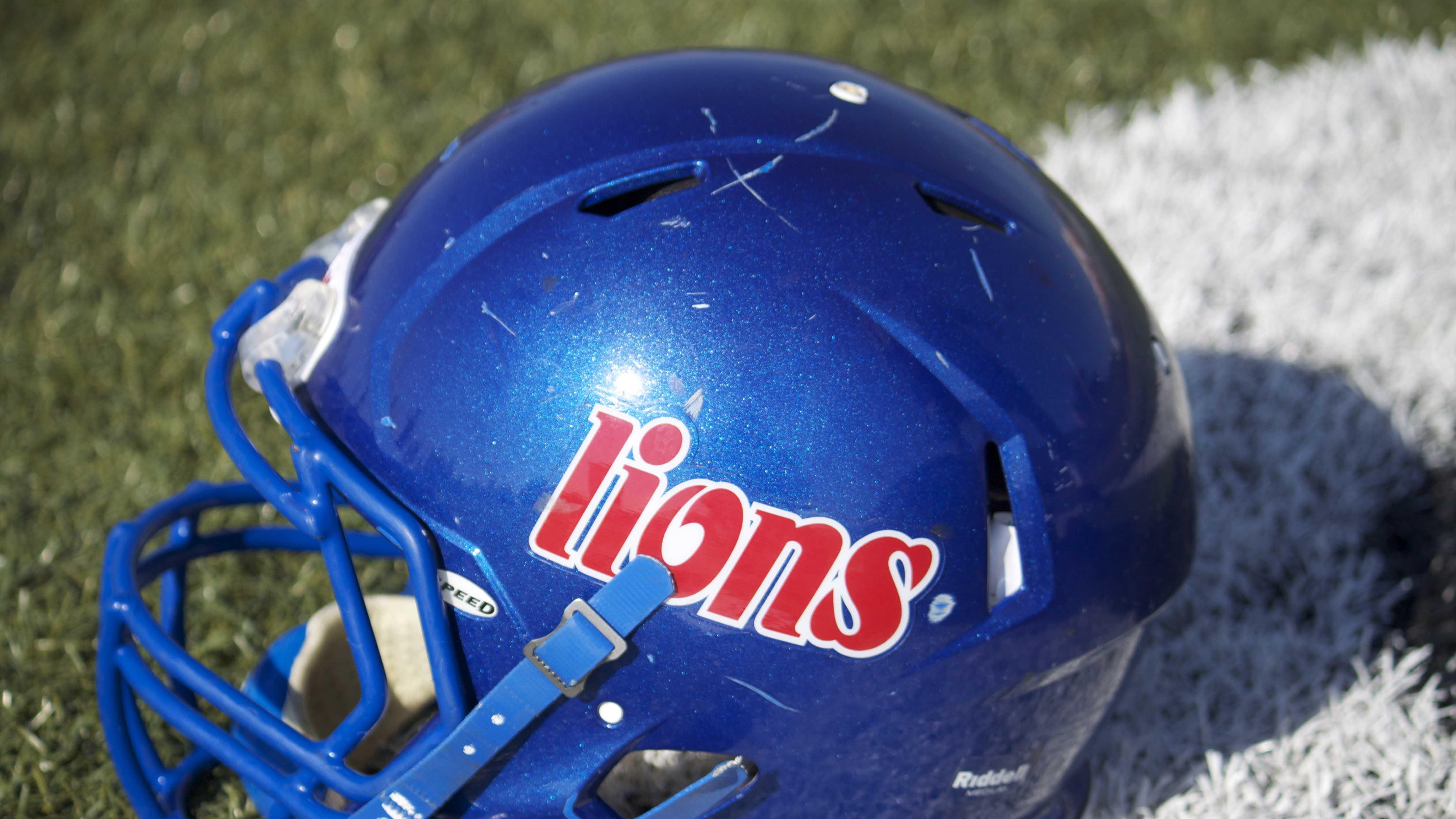 Moore Lions helmet