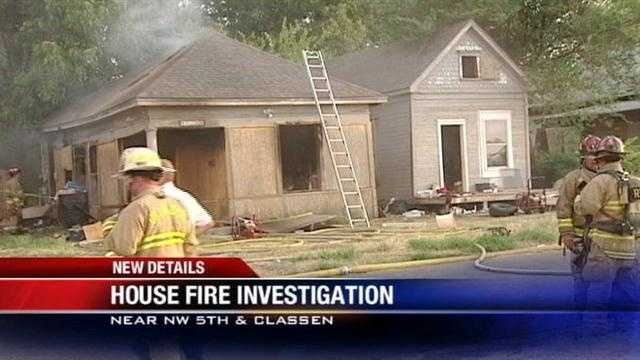 A house fire that sparked near Northwest 5th and Classen on Thursday is under investigation.