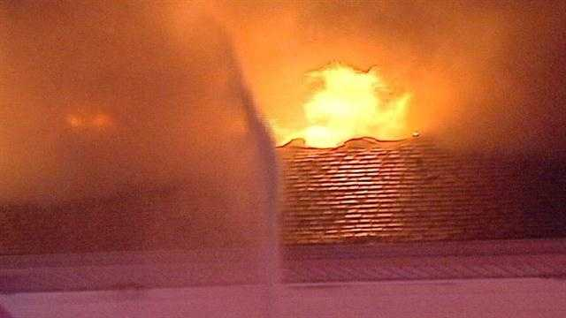 A metro home has been destroyed by a massive overnight fire.