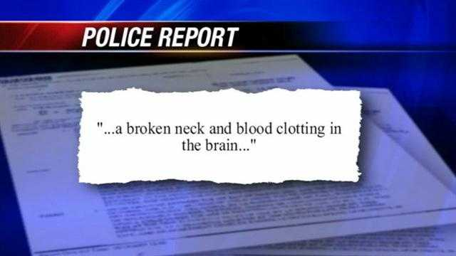 A man is in critical condition Thursday after his neck was broken in a fight, but he didn't immediately realize it.