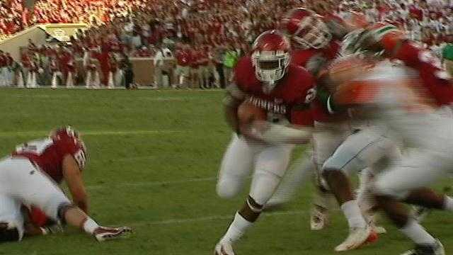 The University of Oklahoma takes a big win against Florida A and M.
