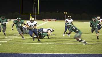 Spead makes a break for the end zone.