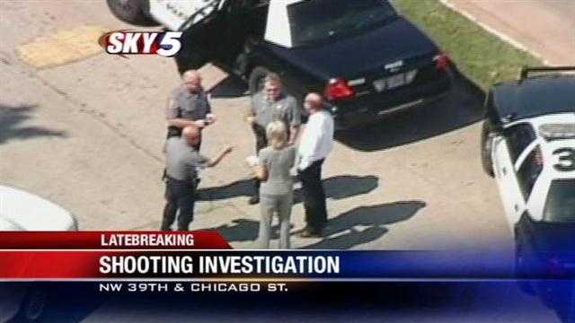 Neighbors tell KOCO that the shooting happened on the second floor of the Adam's Crossing apartment complex near Northwest 39th and Chicago Street.