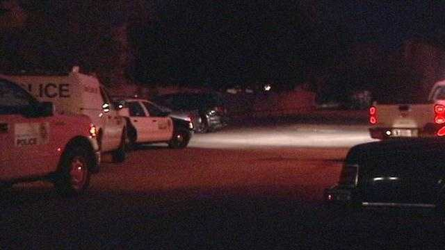 Oklahoma City police search for the gunman who injured a child during a drive-by shooting Wednesday night.