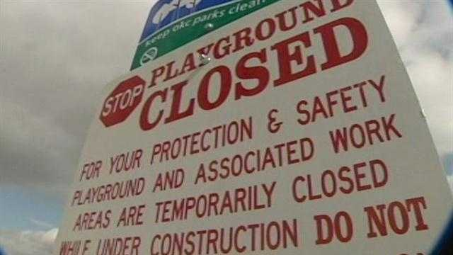 Debris found in Oklahoma City park surfaces