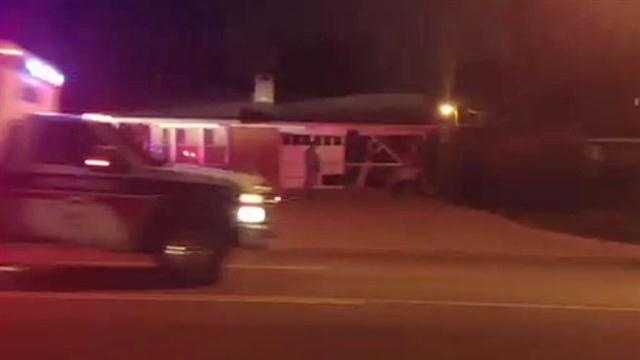 A car drove into the garage of a home in NW Oklahoma City Friday.