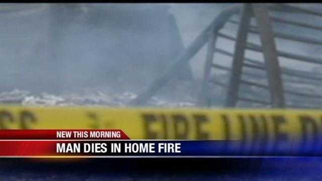 A man is dead after his home goes up in flames.