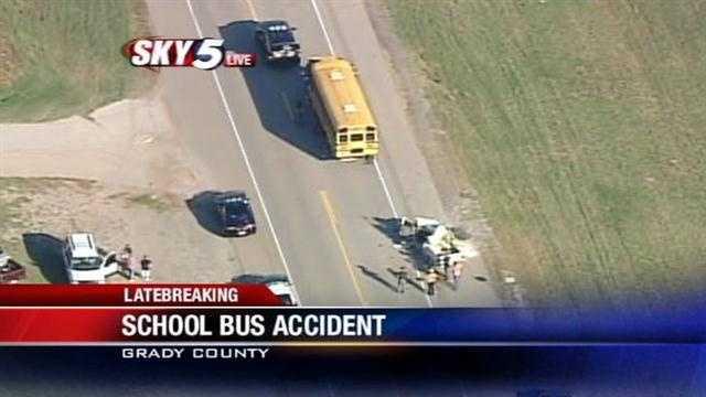 1 killed in crash involving pickup, school bus