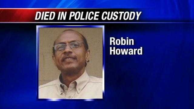 The district attorney will not file charges after a man dies in police custody. Robin Howard was taken into custody after a chase and died a short time later.