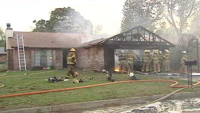 KOCO photojournalist Brian Dickson shot this raw video from a house fire Tuesday night in Midwest City.