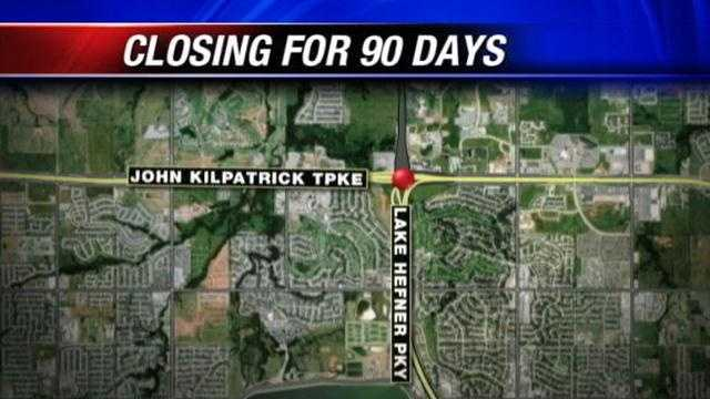 A section of the Kilpatrick Turnpike will close on November 5th for 90 days.