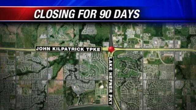 Portion of Kilpatrick Turnpike to close