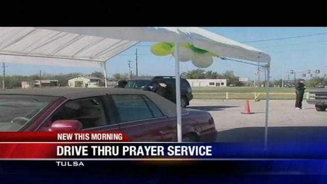 Tulsa church offers drive-thru prayers