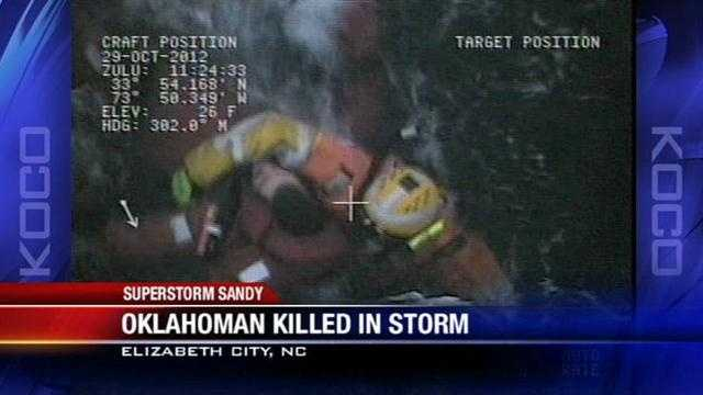 An Oklahoman is dead this morning after Superstorm Sandy tore through the east coast.