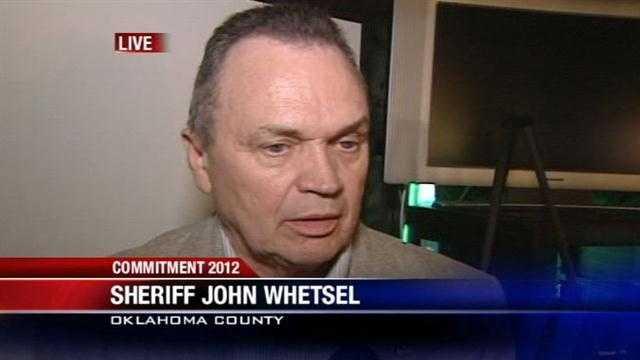 KOCO's Kim Passoth talks to John Whetsel, who was re-elected Oklahoma County Sheriff.