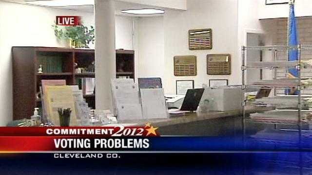 Voting problems in Cleveland County