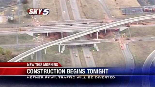 Lake Hefner Pkwy. to close nightly for work