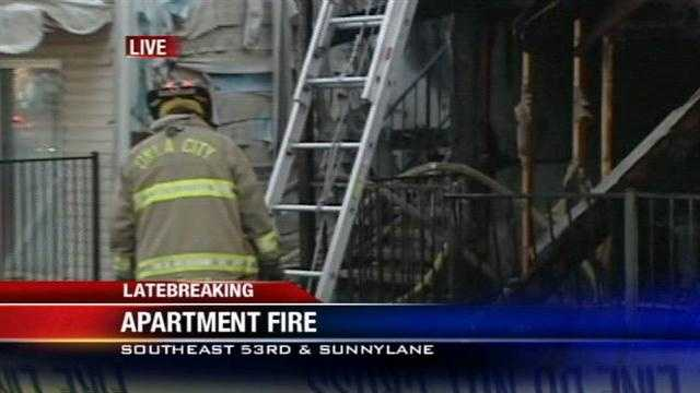 Fire damages apartments in SE Oklahoma City