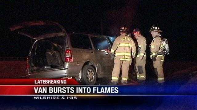 Woman escapes OKC van fire