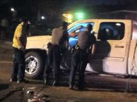 KOCO Eyewitness News 5's Carla Wade snapped these photos from the scene of a rollover wreck in southwest Oklahoma City.