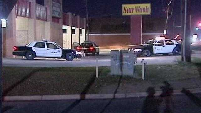 An Oklahoma City man's slaying occured at a car wash across the street for U.S. Grant High School, according to police.