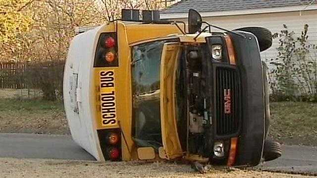 Police: Driver who hit school bus sought