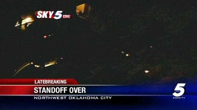 A man who barricaded himself inside his northwest Oklahoma City home has surrendered to police. A school in the Edmond district nearby was briefly placed on lockdown.