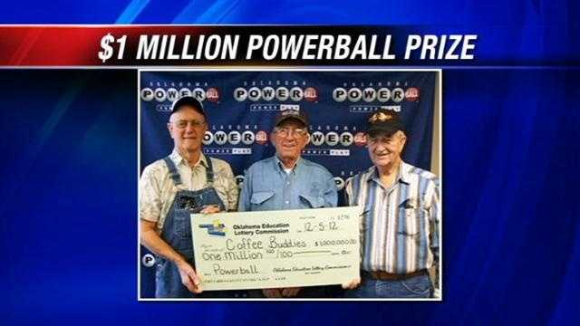'The Coffee Buddies', Lester Belt Jr., 71, Johnny Hall, 71, and William Webb, 81, say the moments they found out they won $1 million in Oklahoma's Powerball lottery were thrilling.