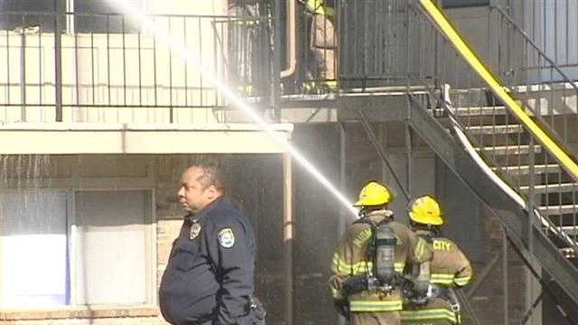 Several local families are without a home after a huge apartment fire Wednesday. The blaze broke out at the Eden Cove Apartments near Northeast 10th Street and Air Depot in Midwest City. Investigators say the fire started in an upstairs apartment.