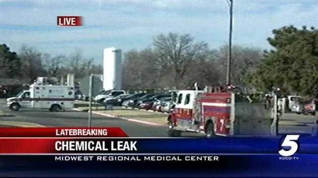 Chemical leak prompts evacuations at hospital