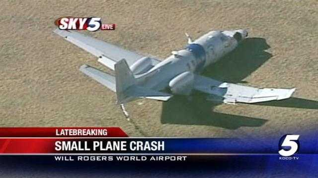 Two people are alive after the Cessna Citation they were in made a hard landing at Will Rogers World Airport on Friday.