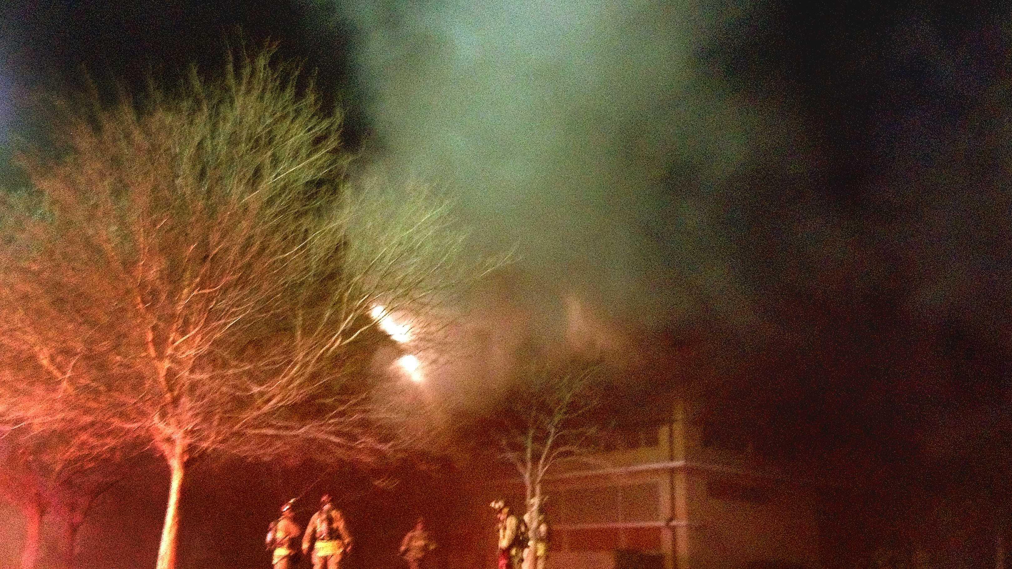 John Marshall High School fire