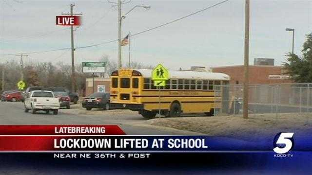 A report of shots fired in the neighborhood of an elementary school in Spencer, which is part of the Oklahoma City Public School District, prompted a lockdown on Monday.