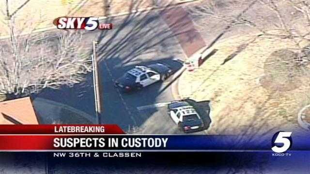 2 suspects in custody after police chase
