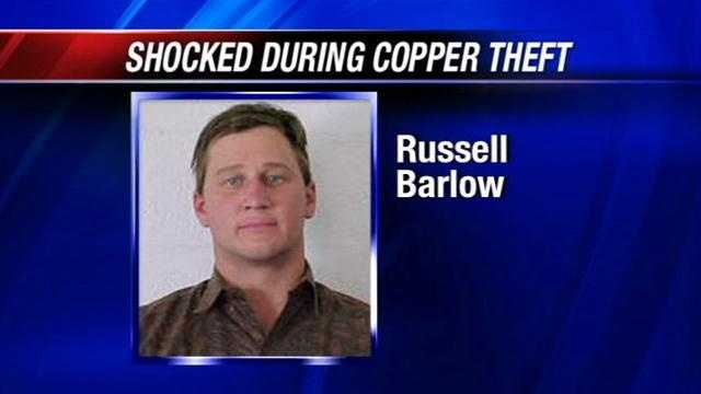 Man shocked during attempted copper theft
