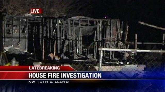 Fire sparks for third time at Midwest City home